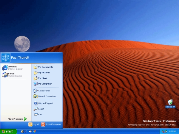 Windows XP Beta 2