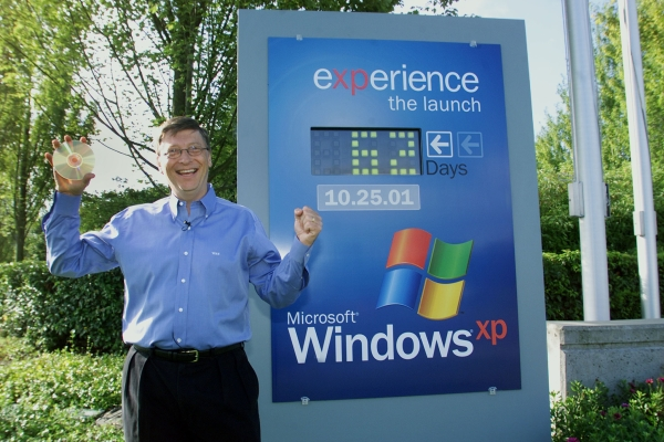 Bill Gates az XP RTM-el