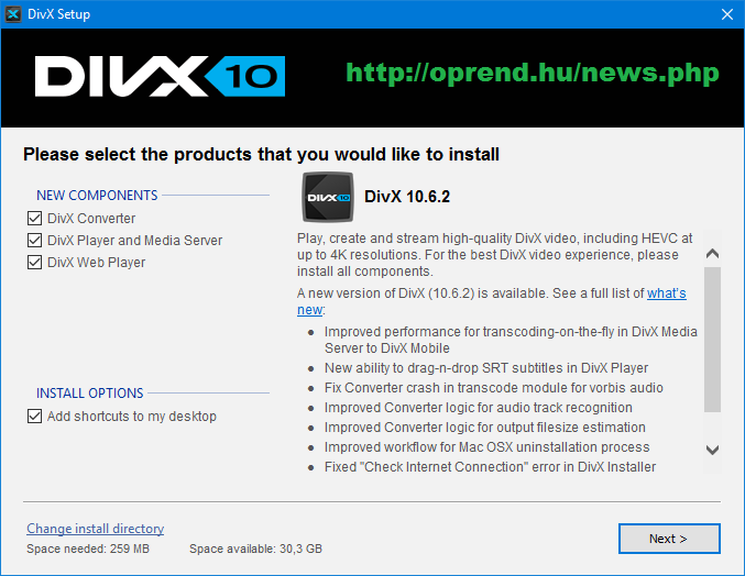 oprend.hu/infusions/downloads/images/screenshots/divx_plus_setup.png